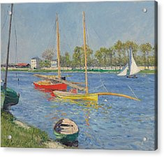 The Seine At Argenteuil Acrylic Print by Gustave Caillebotte
