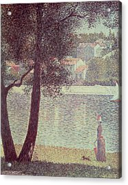 The Seine At Courbevoie Acrylic Print by Georges Pierre Seurat