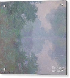 The Seine At Giverny, Morning Mists, 1897 Acrylic Print