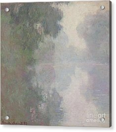 The Seine At Giverny, Morning Mists Acrylic Print by Claude Monet