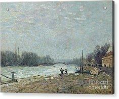 the Seine at Suresnes Bridge Acrylic Print by MotionAge Designs