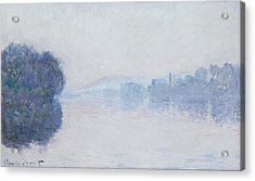 The Seine Near Vernon Acrylic Print by Claude Monet