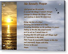 The Serenity Prayer Acrylic Print by Barbara Snyder