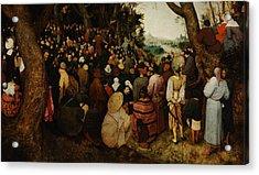 The Sermon Of Saint John The Baptist Acrylic Print by Pieter Bruegel the Elder
