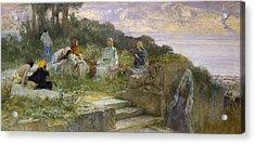 The Sermon On The Mount Acrylic Print by Domenico Morelli