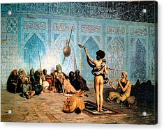 The Serpent Charmer Acrylic Print by Jean Leon Gerome