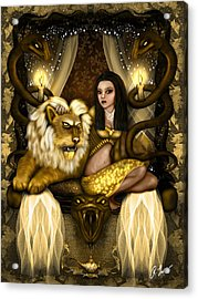 The Serpent Gateway Fantasy Art Acrylic Print