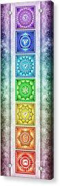 The Seven Chakras - Series 2 Artwork 3 Acrylic Print
