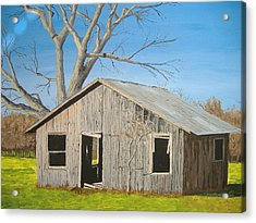 Acrylic Print featuring the painting The Shack by Norm Starks