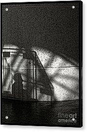The Shadow Of A Man Acrylic Print
