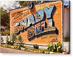 The Shady Dell Bisbee Az Acrylic Print by Lynn Andrews