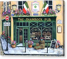 The Shamrock Pub Acrylic Print