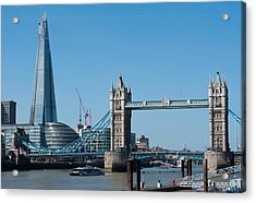 The Shard With Tower Bridge Acrylic Print