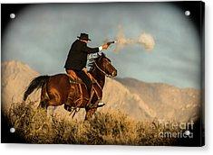 The Sharp Shooter Western Art By Kaylyn Franks Acrylic Print