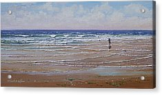 The Shell Collector Acrylic Print by Frank Wilson