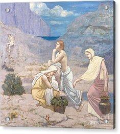 The Shepherd's Song, 1891 Acrylic Print by Pierre Puvis de Chavannes