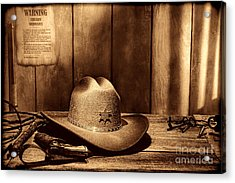 The Sheriff Office Acrylic Print by American West Legend By Olivier Le Queinec