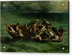 The Shipwreck Of Don Juan Acrylic Print by Ferdinand Victor Eugene Delacroix