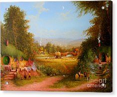 The Shire. Acrylic Print by Joe  Gilronan