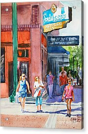The Shoppers Acrylic Print by Ron Stephens