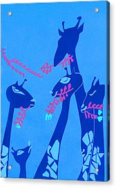 The Short Necked Giraffe 1 Acrylic Print by Lily Hymen