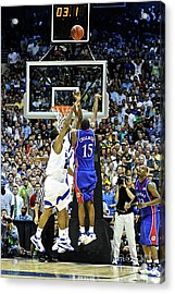 The Shot, 3.1 Seconds, Mario Chalmers Magic, Kansas Basketball 2008 Ncaa Championship Acrylic Print