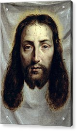 The Shroud Of Saint Veronica Acrylic Print by Philippe de Champaigne