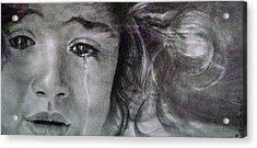 The Shy Cry Girl Acrylic Print
