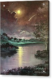 The Silence Of A Falling Star Acrylic Print