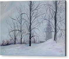 The Silence Of Snow Acrylic Print by Betty Pimm