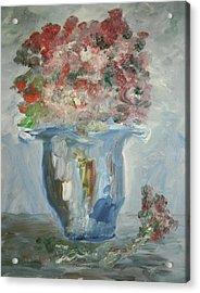 The Silver Swirl Vase Acrylic Print by Edward Wolverton