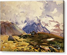 The Simplon Acrylic Print by John Singer Sargent