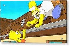 The Simpsons Acrylic Print by Vadim Pavlov