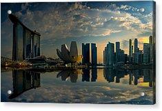 The Singapore Skyline Acrylic Print
