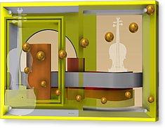 The Singular Song In Yellow Acrylic Print