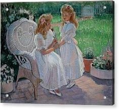 The Sister's Garden Acrylic Print by Sue Halstenberg