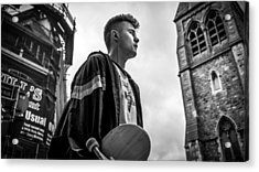 The Skater - Dublin, Ireland - Black And White Street Photography Acrylic Print by Giuseppe Milo