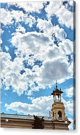 Acrylic Print featuring the photograph The Sky Above The Towers Of Montjuic by Eduardo Jose Accorinti