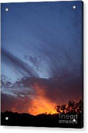 The Sky Is On Fire  Acrylic Print by Cullen Knappen