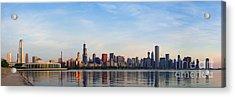 The Skyline Of Chicago At Sunrise Acrylic Print