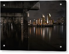 The Skyline Of San Diego Acrylic Print by Sean Foster