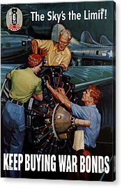 The Sky's The Limit - Ww2 Acrylic Print by War Is Hell Store