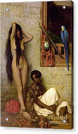 The Slave For Sale Acrylic Print by Jean Leon Gerome