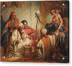 The Slave Market, 1853 Acrylic Print by Jean Francois Portaels