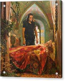 The Sleeping Beauty Acrylic Print by Victoria Kharchenko