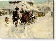 The Sleigh Ride Acrylic Print by JFJ Vesin
