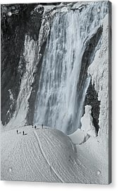 The Smallness Of Man Against Nature Acrylic Print