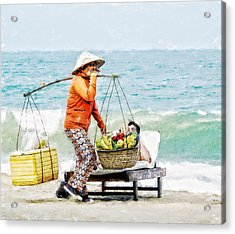 The Smiling Vendor Acrylic Print