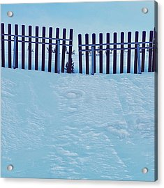 The Snow Fence Acrylic Print by Contemporary Art