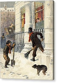 The Snow Sweepers Acrylic Print by English School
